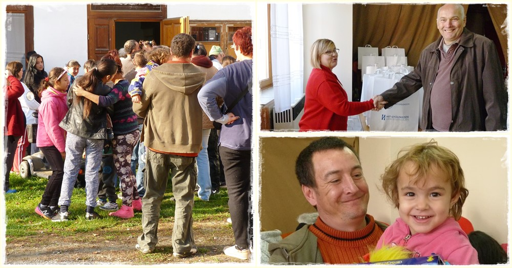 Szalatnaki családoknak segített a pécsi Hit Gyülekezete Szeretetszolgálata